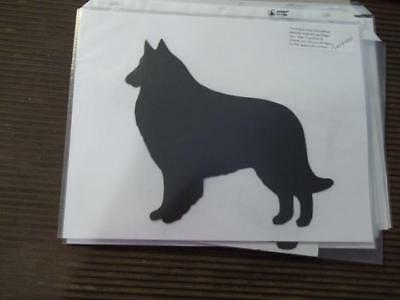 Belgian Tervuren stacked Car Magnet Hand Cut & Painted U pick style color
