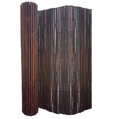 BAMBOO FENCING ROLL SCREEN DELUXE JATI SMOKED BROWN -1.8m(H) x 2.4m(W)