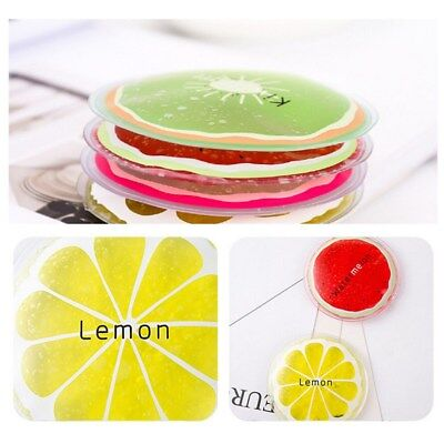 8pcs Small Reusable Gel Ice Packs Fruit Round Ice Gel Pack for Cooling First Aid