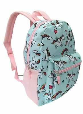 Unicorn Rainbow Backpack Pre School Toddler Book Bag Tote Preschool 15""