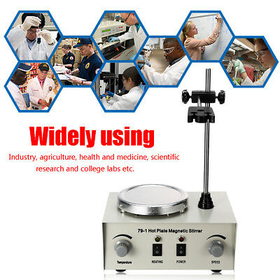 1000ml Hot Plate Magnetic Stirrer Lab Heating Dual Control Mixer 220V 250W