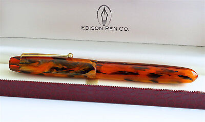 Edison Collier Burnished Gold Fine Point Fountain Pen NEW COLLIER-BG-F