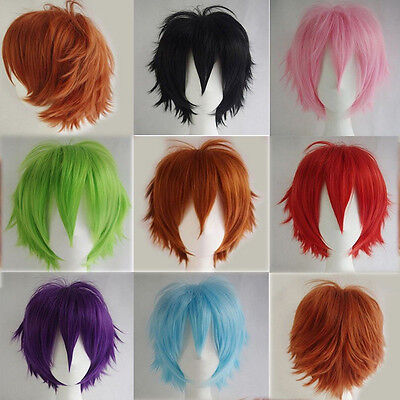 Women Men New Fashion Cosplay Short Full Wig Heat Resistant Anime Party Wi U.fr