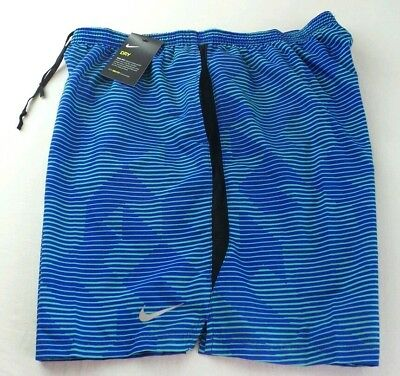 NIKE Men's Shorts XXL Blue Green Challenger Mesh Brief Athletic Training DriFit
