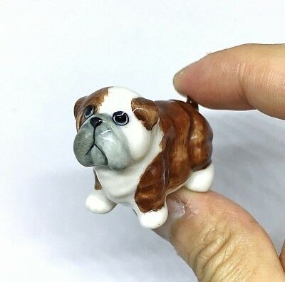 Vintage Hand Painted Collectible Ceramic Dog Figurine Miniature #3