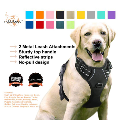 Rabbitgoo Dog Harness No-Pull Pet Harness Adjustable Reflective Oxford
