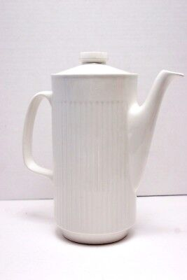 Johnson Brothers (Bros.) ATHENA White ribbed Coffee Pot 5 Cup  MINT!
