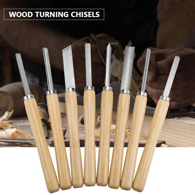 Quality 8X Wood Turning Lathe Chisels Hand Carving Woodworking Chisel Gouge Set