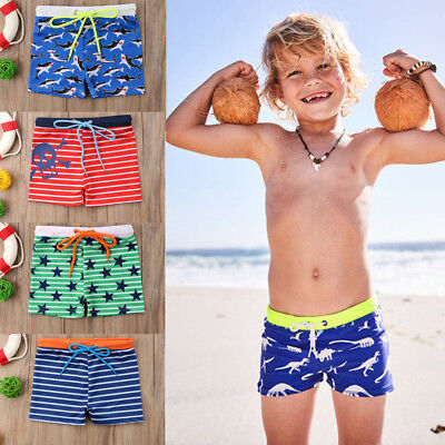 US Kids Boy summer Shorts Bottom Pants Cartoon beach surfing Swimwear 0-6 Years