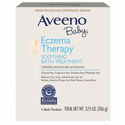 Baby Eczema Therapy Soothing Bath Fragrance Free, 5 Packets, 3.75 oz 106 g