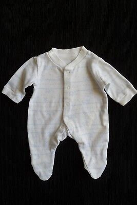 Baby clothes BOY premature/tiny<6lbs/2.7kg blue/white rabbit babygrow SEE SHOP!