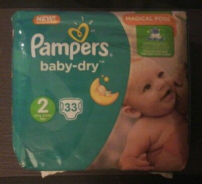 Pampers Baby Dry Taille 2 -  Lot de 231 couches