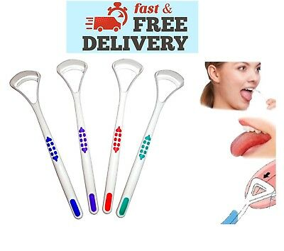 ✅ 2 X Plastic Tongue Tounge Cleaner Scraper Dental Care Oral Hygiene Mouth ✅