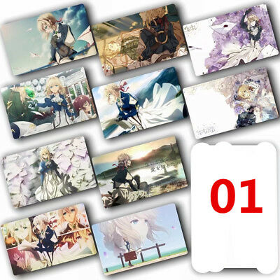 violet evergarden 10pcs/set anime Kartenaufkleber Card Paster
