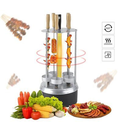 1000W Halogen Rotating Vertical Grill Rotisserie Oven BBQ Kebab & Vegetables New