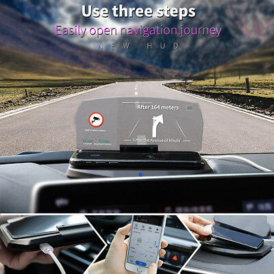 Qi Wireless Charging Dock Car Auto HUD Head Up Navigation Display Holder Charger