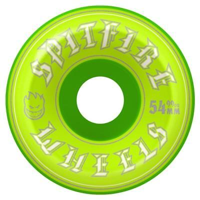 Spitfire Wheels Old English Conical Fulls Green 54mm / 99d Green