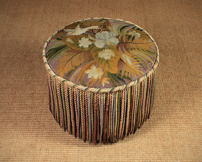 Antique Bird of Paradise Tapestry Top Stool c.1910.