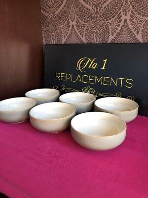 6 x Denby Fire Chili Sage Green Cereal Bowls 6""