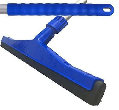 Blue Professional Hard Floor Cleaning Squeegee & Strong Alloy Handle - NEW - UK