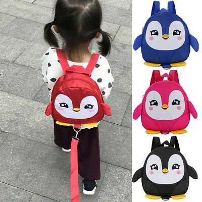 Mini Baby Toddler Walking Safety Harness Backpack Leash Strap Penguin Bag