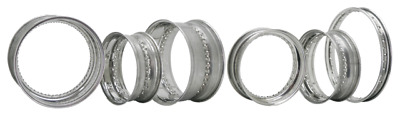 Zodiac Stainless Steel Rim, 16X3.5, Drop Center With Center Spoke Dimples 701033