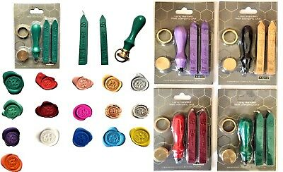 Wax Stamp Sealing, handle in 4 colours With 2 Sticks of traditional Wax XWS040-