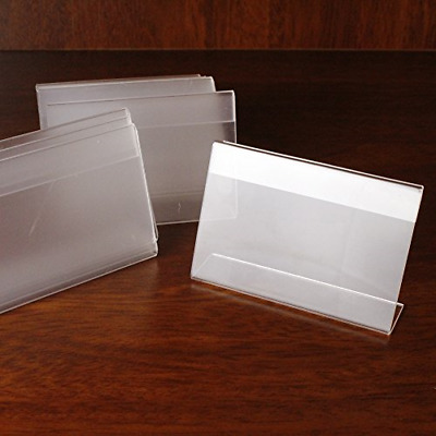 Melleco 20pcs Acrylic Sign Display Holder Price Shop Name Card Label Tag Stand
