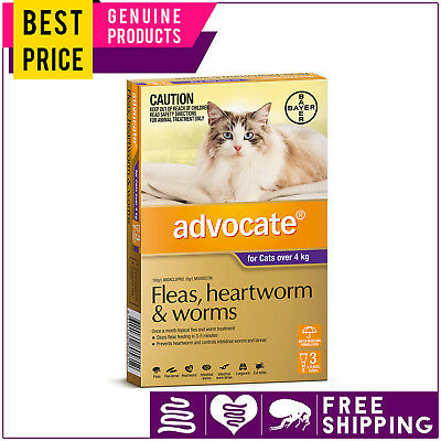 ADVOCATE for Cats 3 Doses PURPLE Pack Over 4 Kg by Bayer