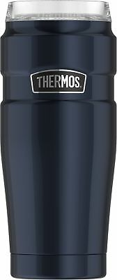 Thermos Stainless King 20 oz Travel Tumbler with 360 Degree Drink Lid, Midnig...