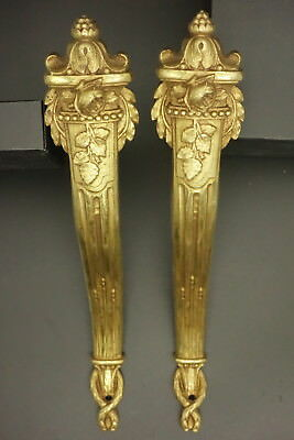 Pair Of Large Cache-Peaks, Louis Xvi Style, Era 19Th - Bronze - French Antique