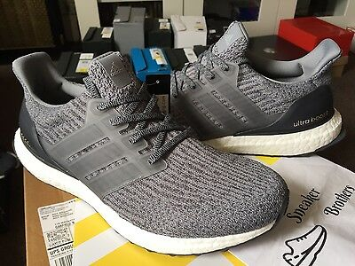 68235f9aa Adidas Ultra Boost M 3.0 Mystery Grey Dark Solid Heather DGH BA8849 Triple  Black