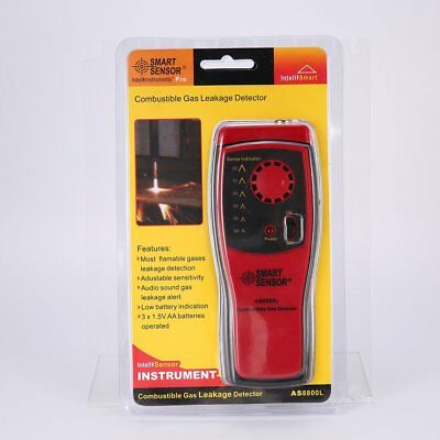 SMART SENSOR AS8800L Combustible Gas Detector Portable Gas Leakage Tester Tool Y