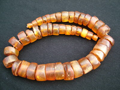 Vintage Natural Amber African Tribal Trade Beads Necklace
