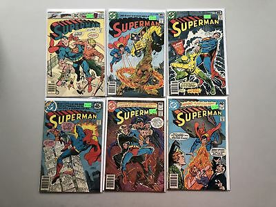 Lot of 11 Superman (1939 1st Series) from #304-361 FN-VF Very Fine