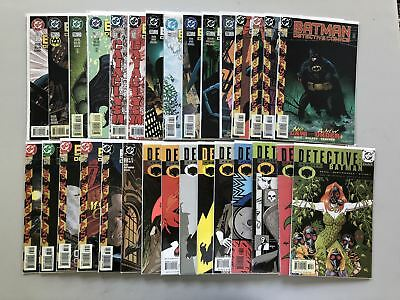 Lot of 53 Detective Comics (1937 1st Series) from #701-779 VF Very Fine