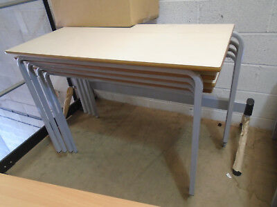 Classroom Stacking Table 1100 X 550 X 765 Cream Top Grey Legs