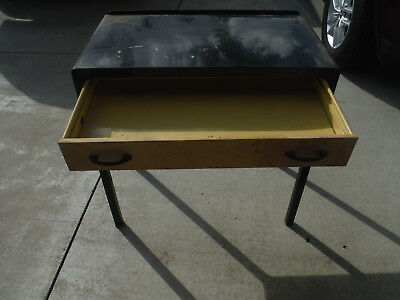 """VINTAGE SIMMONS COMPANY Metal Industrial Desk Table 30""""H x 17"""" x 30.5"""""""