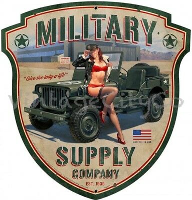 "Greg Hildebrandt Art "" Military Supply Company "" Army Metal Sign Garage Man Cave"