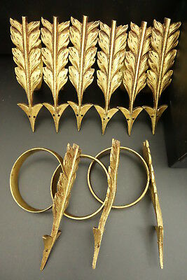 Lot Of 9 Rings For Curtains, Empire Style, Era 19Th - Bronze - French Antique