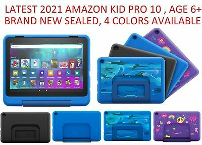 """New Sealed Amazon Fire HD 10 Kids tablet 10.1""""  32GB  BLUE YELLOW PINK"""