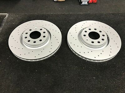 Audi A4 B7 Estate Tdi Quattro Special Edition Brake Discs Sports Drilled 320Mm