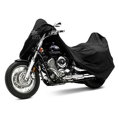 1Pcs L Size Black Motorcycle Waterproof Outdoor Motorbike Rain Bike Cover 190T