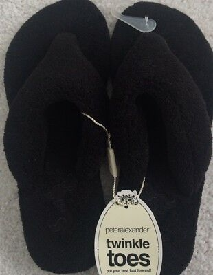 Ladies Peter Alexander Classic Towelling Thongs  slippers  Size M (7-8)