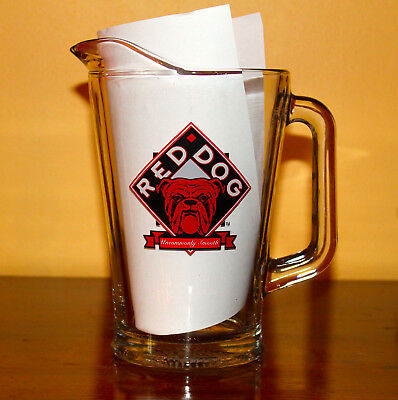 """Vintage Red Dog beer pitcher """"U R your own Dog"""" excellent condition never used."""