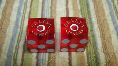 Bally's Casino Las Vegas Matched Set Of Casino Used Dice Numbered 254