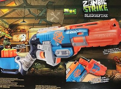 NEW Nerf SLEDGEFIRE Zombie Strike Shotgun-Style Dart Blaster NEW IN BOX NIB