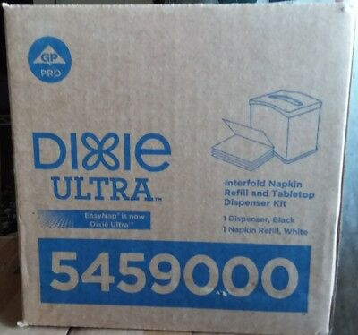Dixie Ultra EasyNap Interfold Napkin Tabletop Dispenser with Refill 5459000