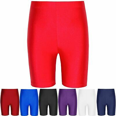 Girls Ladies Womens Super Stretch Shinning Lycra Cycling Shorts Dancing Bike Gym
