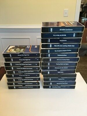 Kings Private Piolot VHS Lot Exam Course Test Assorted Instructional